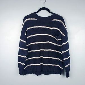 American Eagle oversized striped pocket sweater S